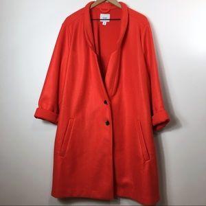 Old Navy Burnt Orange Felt Style Trench Coat, 4X